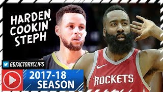 James Harden vs Stephen Curry SICK Duel Highlights (2018.01.20) Rockets vs Warriors - CLUTCH Harden!