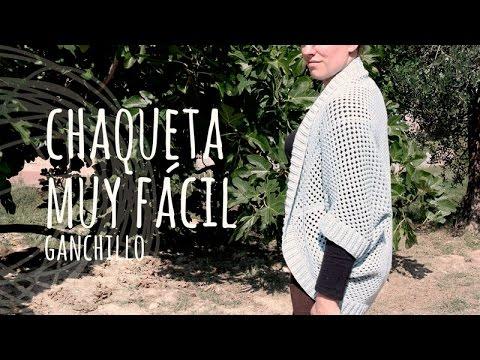 Tutorial Chaqueta Muy Fácil y Rápida Ganchillo | Crochet - YouTube