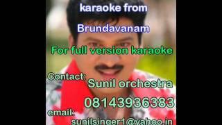 Madurame sudhaganam karaoke-Brundavanam-Rajendra prasad-Telugu karaoke