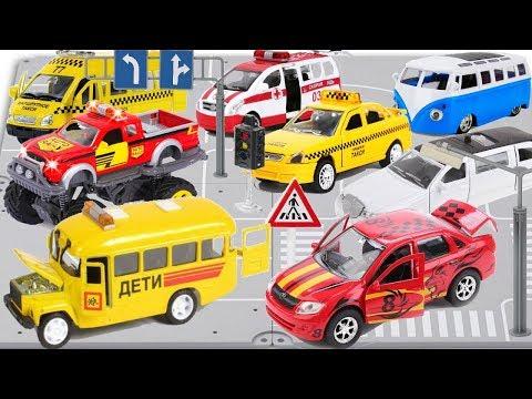 Машинки Технопарк Служебный и легковой транспорт
