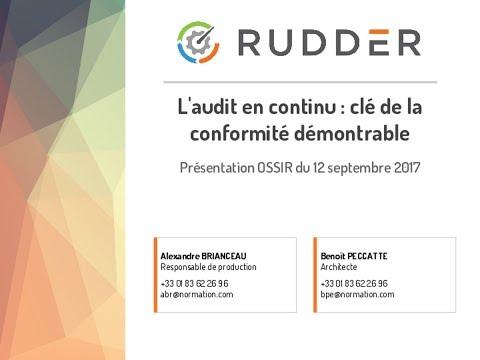 2017-09-12 Rudder, l'audit en continu clé de la conformité démontrable