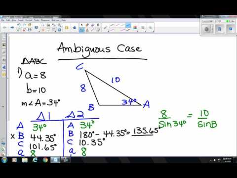 1 9 17 Law of Sines Ambiguous Case Notes