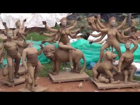 Durga Idol Making And Celebration - Bengaluru
