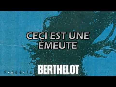 CECI EST UNE ÉMEUTE - Frédéric Berthelot