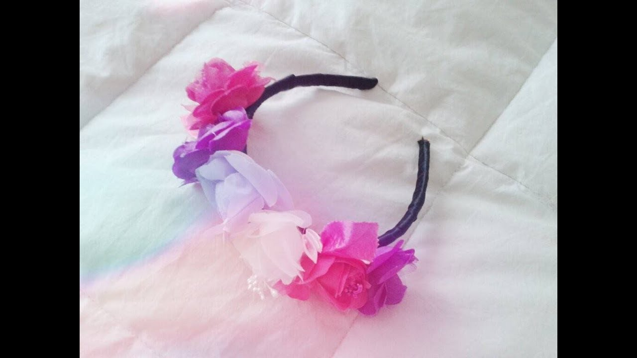 bb78ff8ff ♥ DIY ♥ Vincha de Flores! ♥ flower headband ♥ Azumakeup - YouTube