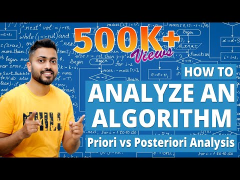 What is Algorithm | How to Analyze an Algorithm | Priori vs