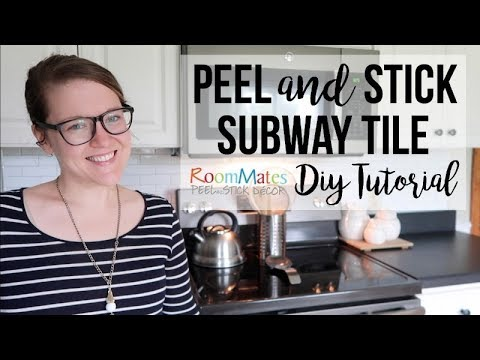 DIY PEEL AND STICK TILE BACKSPLASH | HOME DECOR | ROOMMATES DECOR!!!