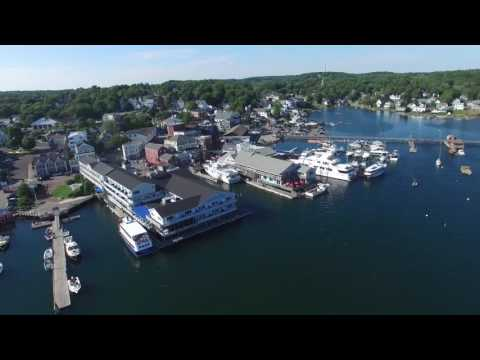 Boothbay Harbor Maine Xtreme Aerial View