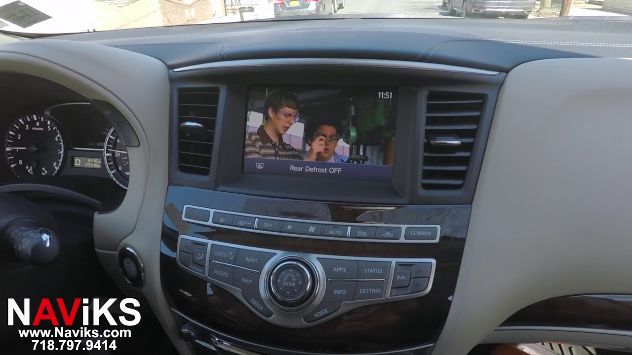 2018 Infiniti QX60 NAViKS Video In Motion Bypass: DVD, NAV, Video Input In  Motion