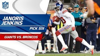 Janoris Jenkins' Huge Pick 6 Before the Half! | Giants vs. Broncos | NFL Wk 6 Highlights