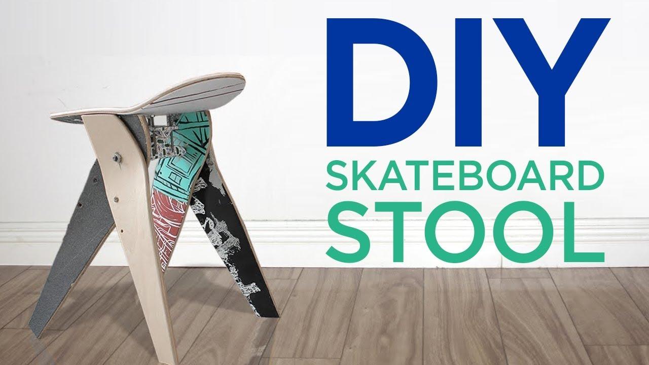 Diy Skateboard Stool 5 The Cutting Bored Youtube