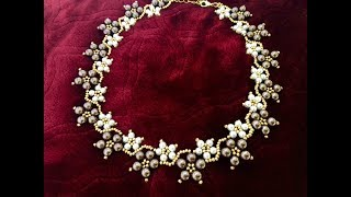 Mothers Day Gift Idea || Beaded Pearl Necklace || How To Make Beaded Necklace || Diy Jewelry