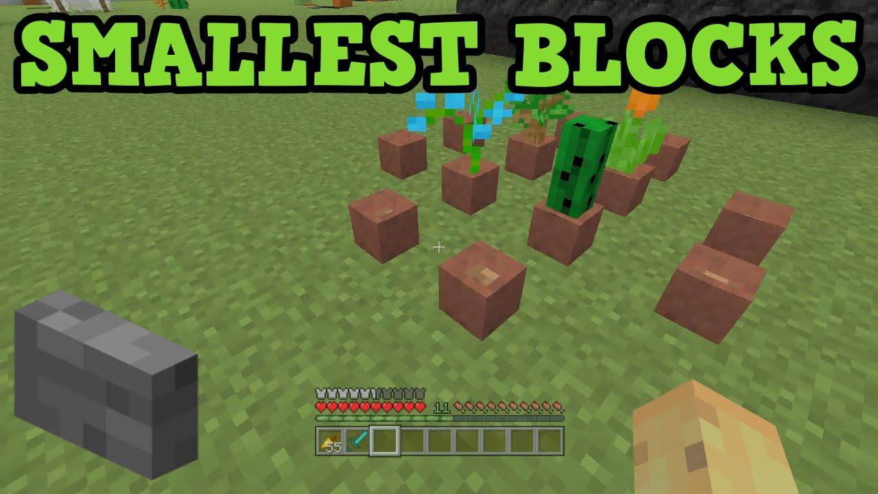 SMALLEST BLOCKS in Minecraft