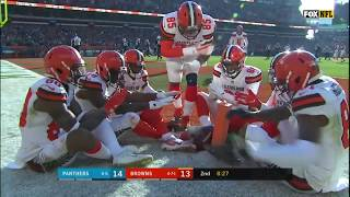 Go inside Baker Mayfield's helmet as he hits Jarvis Landry with deep TD ball