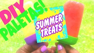 Quick And Easy Diy Summer Time Paletas Aka Fruit Popsicles!