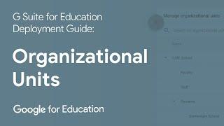 Setup Video 3 - Organizational Units   G Suite for Education
