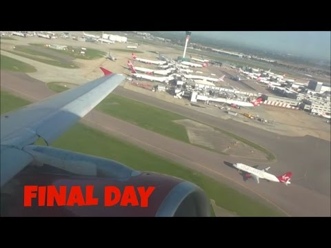 Virgin Atlantic Little Red, Last Day! | London Heathrow to Aberdeen *Full Flight*