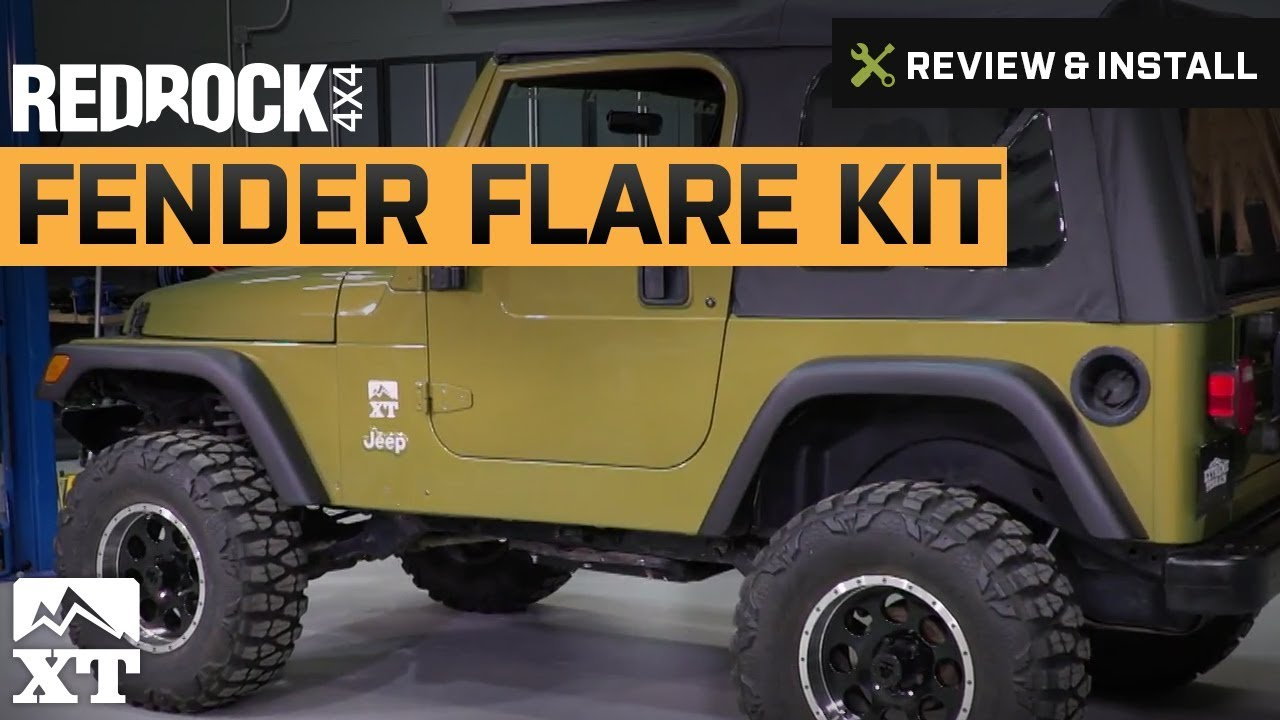 Jeep Wrangler RedRock 4x4 Replacement Style Fender Flare Kit (1997-2006 TJ)  Review & Install