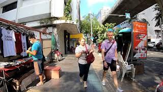 Walking in Bangkok, Thailand   Si Lom Road, Lumphini Park Series Part 7