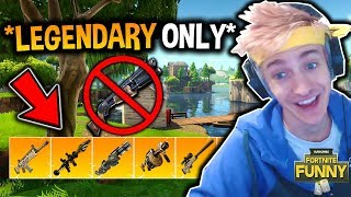 *NEW* LEGENDARY WEAPONS ONLY GAME MODE GAMEPLAY! (Myth, Ninja, CDNThe3rd) Fortnite SOLID GOLD!