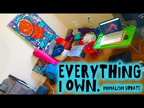 Everything I Own || Minimalist Living || Sept 2016 Update || Minimalist Apartment Tour