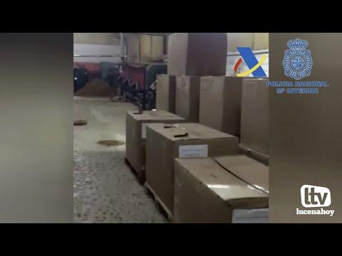 VÍDEO: Desarticulan un grupo internacional que fabricaba tabaco ilegal desde Lucena