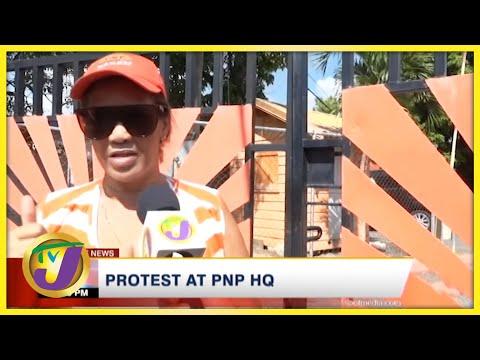 PNP Activist Leads Protest at PNP HQ   TVJ News - Sept 28 2021