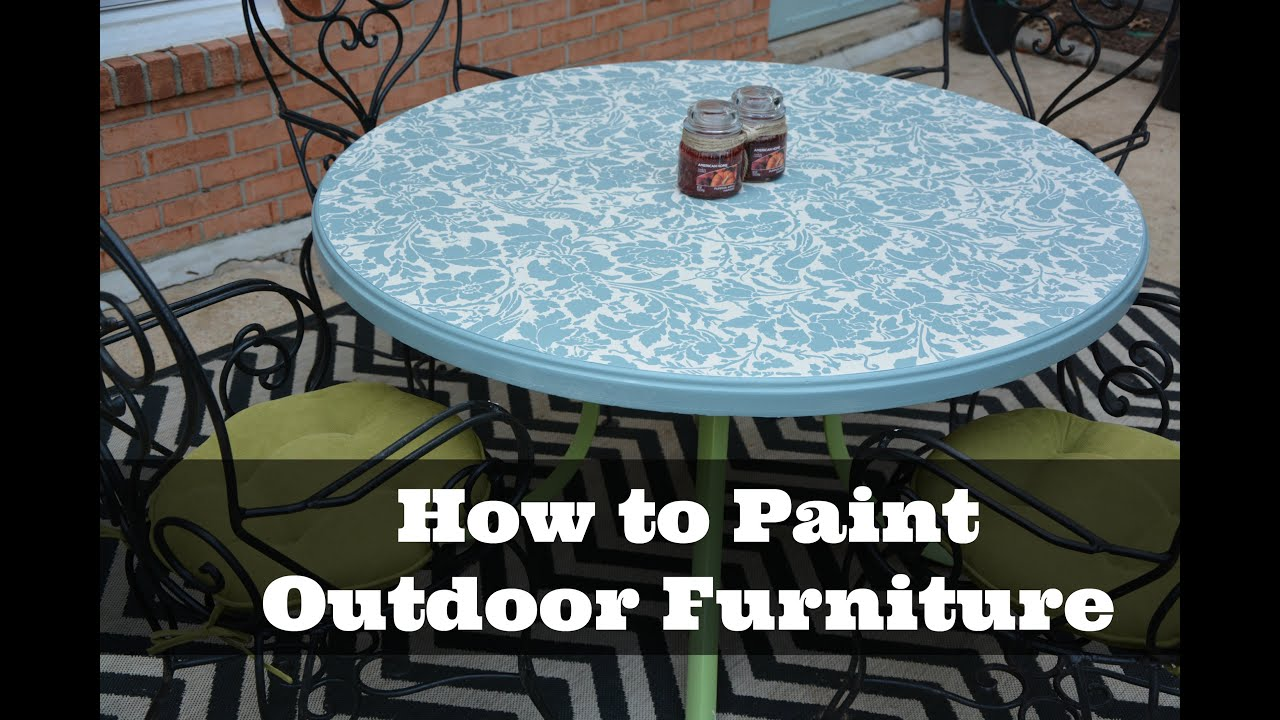 How to Paint Outdoor Furniture DIY Tutorial Thrift Diving
