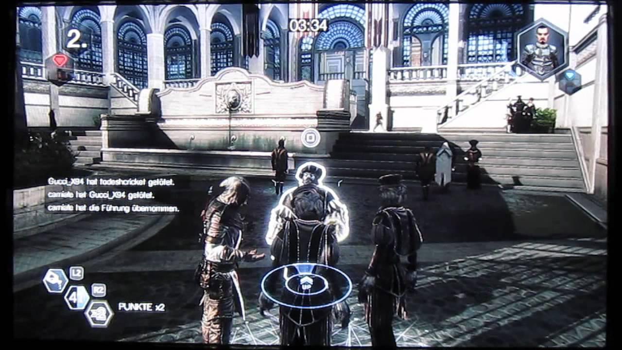 Assassins Creed Brotherhood Multiplayer Fortgeschrittenentaktik - Gift und Sturm
