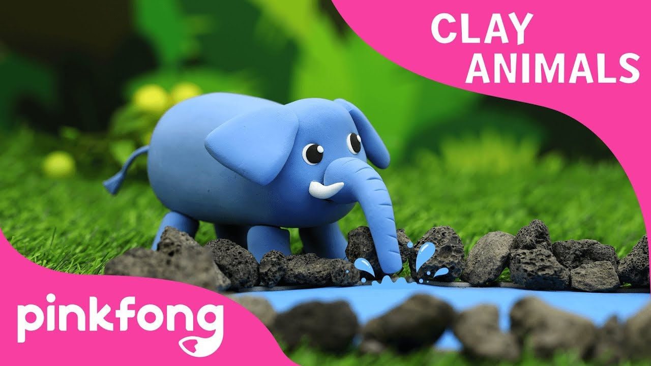 How to make Elephant with Clay | Clay Animals | Animal Songs | Pinkfong Clay Time