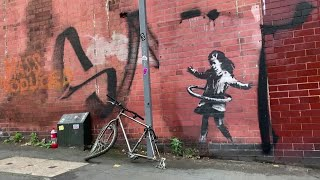 Banksy claims hula-hooping girl street art