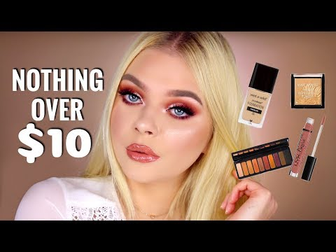FULL FACE NOTHING OVER $10   Rose Gold Makeup Tutorial