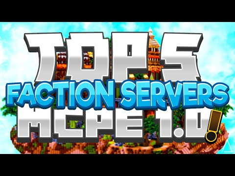 TOP 5 Minecraft PE FACTIONS SERVER! BEST Factions Server -[MCPE V1.10.0]