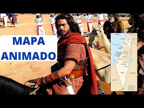 La Conquista De Canaán Por Josué Y Los Hijos De Israel. Mapa Animado.