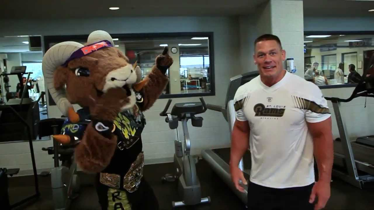 John cena rams workout youtube - John cena gym image ...
