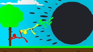 HOLD ON To Your FRIENDS In Stick Fight! (Black Hole)