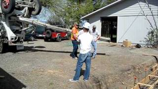 Garage Project, April 19, Footing Foundation Concrete Video2