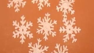 Маленькие снежинки из клея ПВА. ДАВАЙТЕ СДЕЛАЕМ.