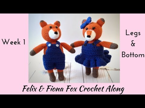 Felix & Fiona Fox Crochet-along Week 1