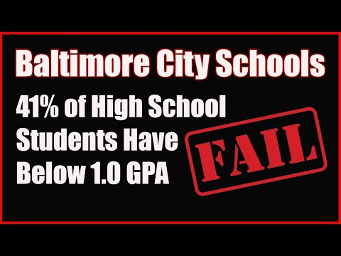 41% of Baltimore High School Students Have a 1.0 GPA or Less