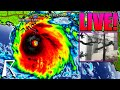 Hurricane Ida Makes Landfall in Louisiana as Cat 4 Storm – Now a Cat 3 with 125 MPH Winds – (Storm Chaser Live Cam)