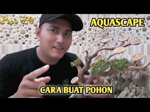 Cara Membuat Ranting Pohon Aquascape - YouTube