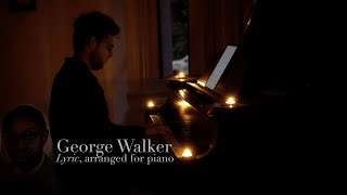 Lyric, for Piano - George Walker