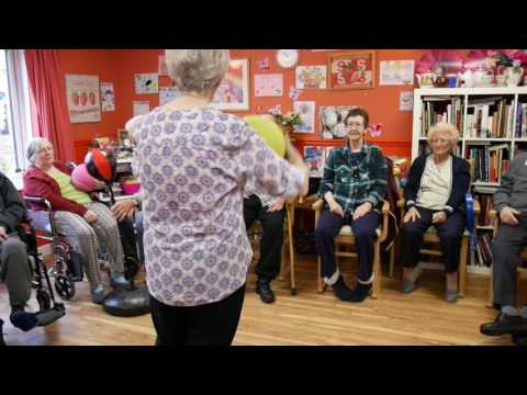 Physiotherapy session at Deerhurst Care Home