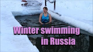 Winter swimming in Russia Моржевание в России