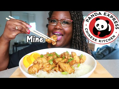 PANDA EXPRESS ORANGE CHICKEN MADE AT HOME RECIPE + MUKBANG | Asmr 실제 요리 소리 from YouTube · Duration:  13 minutes 46 seconds