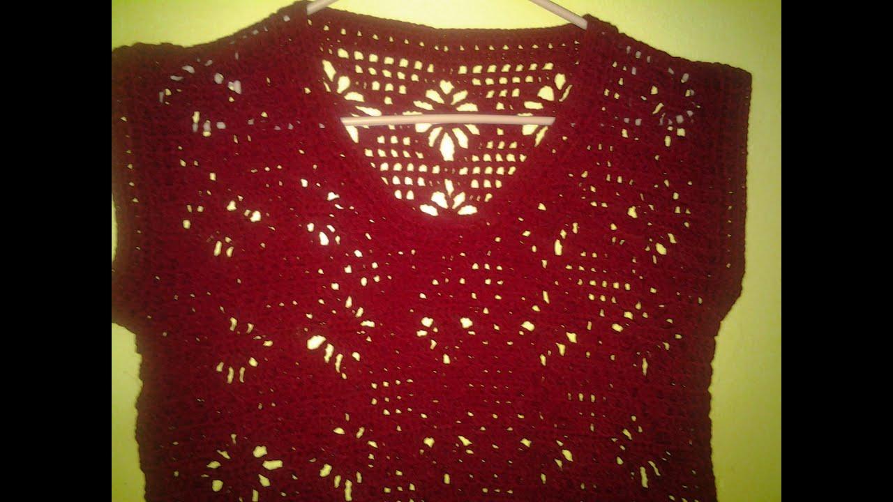 Blusa araña 2a.parte. ( crochet ) - YouTube