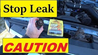 Radiator Stop Leak CAUTION use ⚠