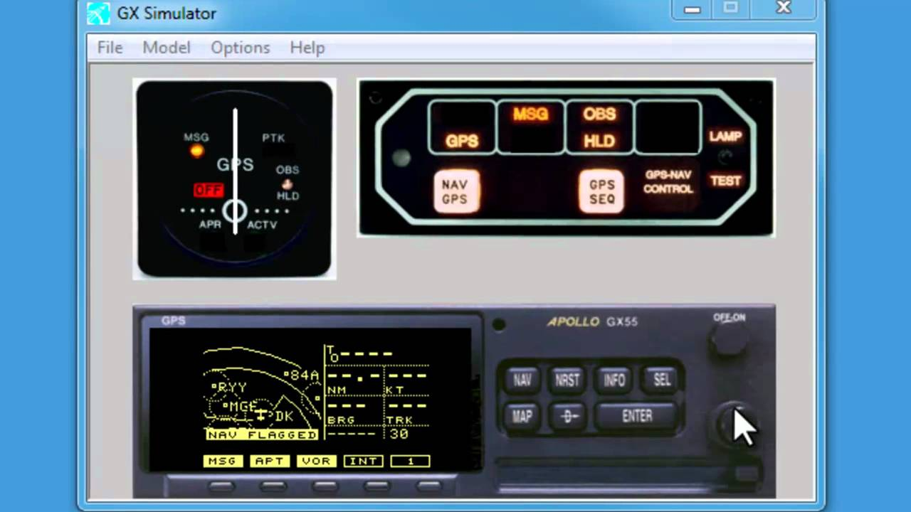 Garmin Gps Watch >> #1 Download and Install: GARMIN Apollo GPS Simulator Training GX55 GX60 - YouTube