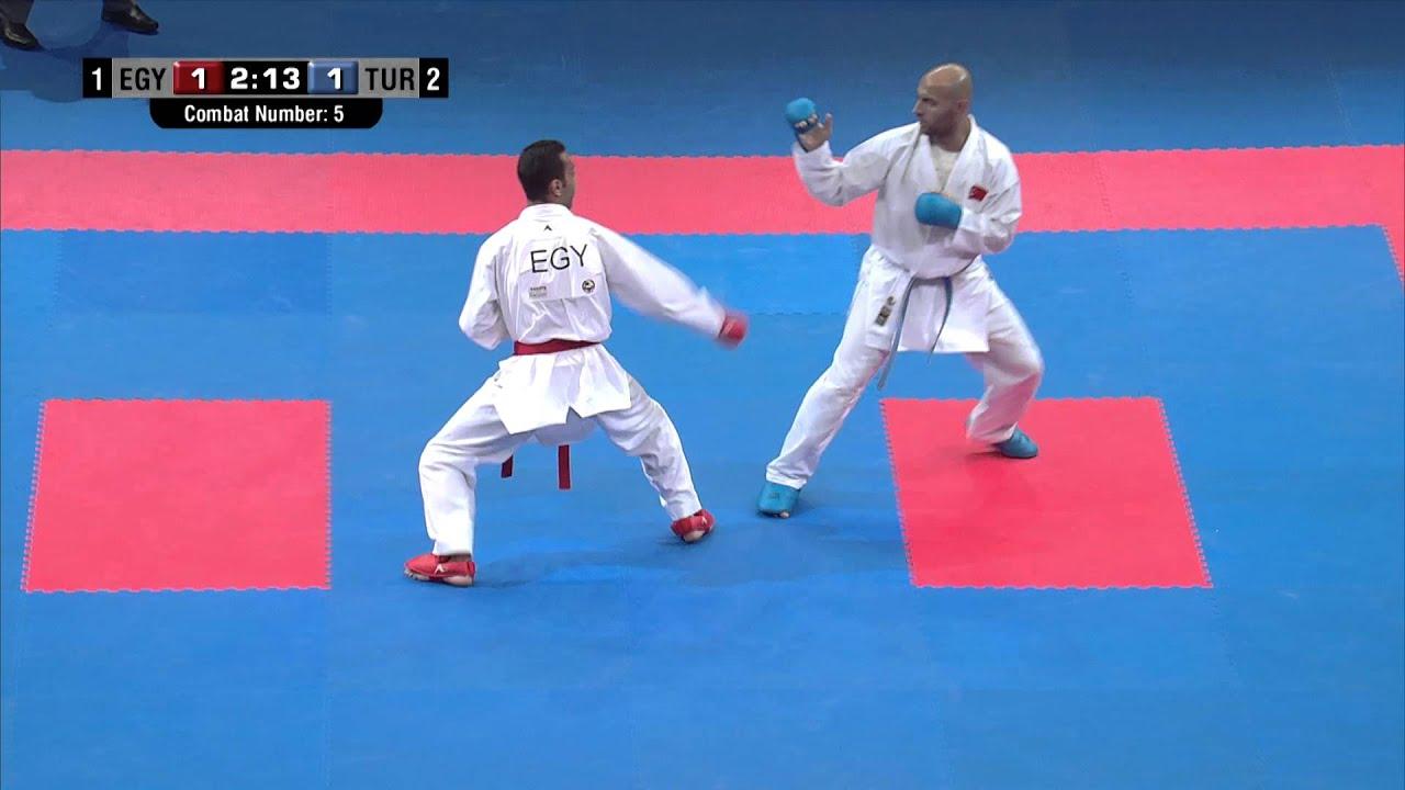 Male Team Kumite TURKEY vs EGYPT (5/5).  2014 World Karate Championships. Bronze Medal Fight